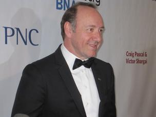 Kevin Spacey at the 2012 Helen Hayes Awards.