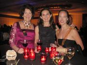 Nominee Catherine Flye, Anna McDonald and Patricia Jensen, Round House Theater, at the gala for the Helen Hayes Awards.