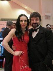 Winner Irina and husband and nominee Paata Tsikurishvili, Synetic Theater, at the Helen Hayes Awards gala.