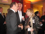 Kevin Spacey mingles at the Helen Hayes Awards pre-show.
