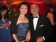 Helen and Bruce Koshkish, PNC Bank, at the pre-party for the Helen Hayes Awards.