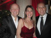 Helen Hayes chairman Victor Shargai, Crystal City BID's Angie Fox, and Craig Pascal at the pre-party for the Helen Hayes Awards.