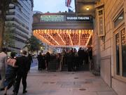 Attendees gather in front of the Warner Theatre for the Helen Hayes Awards.