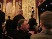 Nominees stand to be applauded at the Helen Hayes Awards ceremony.