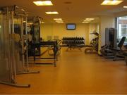 Portion of workout facility.