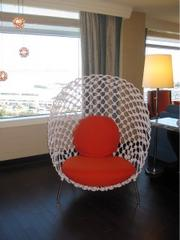 Chair inside a suite.