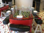 Foosball dining tables at Jaleo.