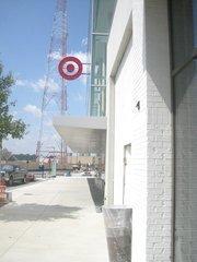 Signage for the upcoming Target at Mosaic.