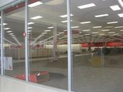 A view through the glass into Target, still under construction at Mosaic.