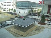 The view from the Angelika. The Target store and a small retail space, which will likely host a coffee/wine outpost, are visible.