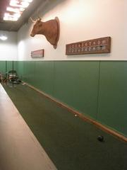 Bocce court.