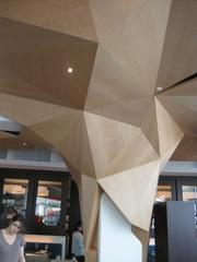 Tree-inspired sculpture element at Rasika West End.