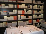 """The """"library"""" private dining area at Rasika West End."""
