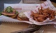 A spicy Baja burger at Smashburger.