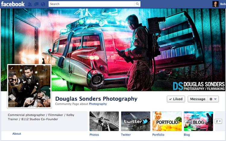 Douglas Sonders Photography's Facebook Page is a great example of a page done right.