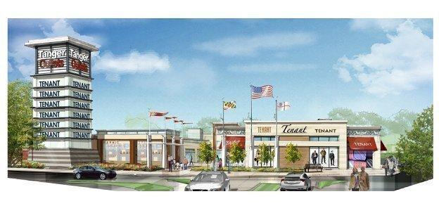 Tanger Outlet Center will break ground Thursday on its planned $100  million outlet development at National Harbor.