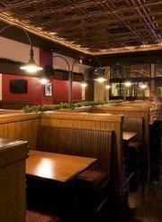 Bar booths at William Jeffrey's tavern.