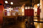 Seating area in William Jeffrey's Tavern.