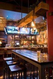 Televisions abound in William Jeffrey's Tavern.