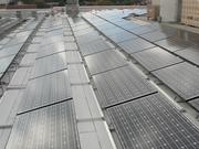 Solar panels atop 1776 Wilson Blvd. are part of the building's environment aspects. It is slated to earn a LEED Platinum designation from the U.S. Green Building Council.