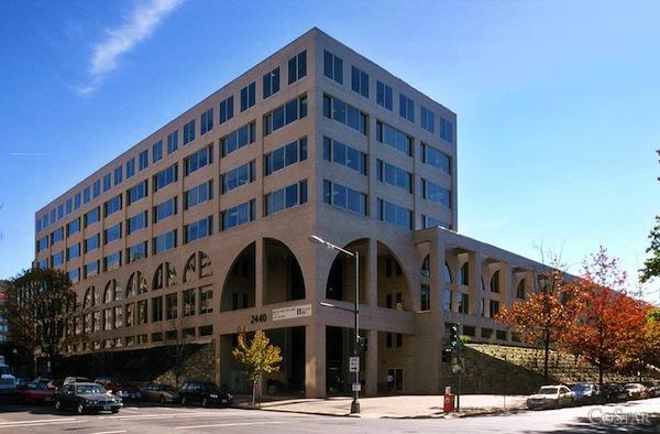 This property at 2440 M St. NW near Washington Circle is part of a larger 1.5 million-square-foot portfolio that Washington Real Estate Investment Trust plans to sell for $500.7 million to an undisclosed buyer.