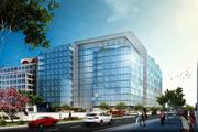A rendering of the proposed 200 F St. NW, viewed from Third Street NW. The building is part of Property Group Partners' Capitol Crossing project.