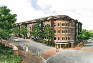 Dominion Heights, a condo project in Arlington, is one of the beneficiaries of a $30.7 million fund launched by NVCommercial to help stalled real estate projects in the Washington area.