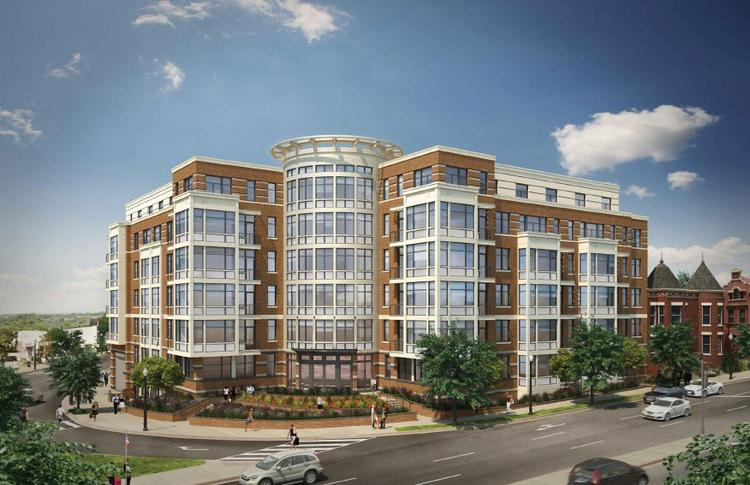 A rendering of 1600 North Capitol St. NW, proposed by Florida & Q Street LLC. The developer wants to build more residential into the project, less parking and possibly no retail.