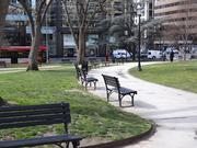 The static seating in Franklin Park is not particularly inviting, nor is the lack of any amenities. D.C. plans to change that.