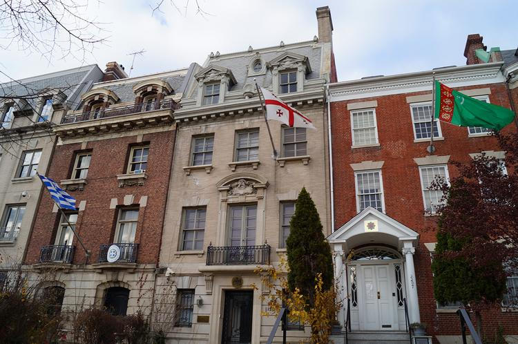 DelShah Capital LLC is seeking buyers for 2209 Massachusetts Ave. NW as it plans its exit from D.C.'s real estate market.
