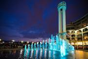 MRP Realty's renovations to Washington Harbour included updating the site's fountain to include new lighting and jets.