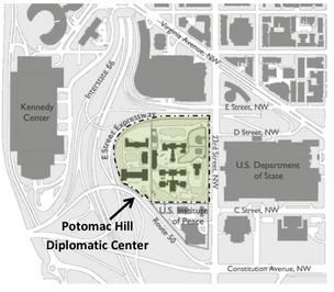 This map shows the location of the proposed Potomac Hill Distribution Center.