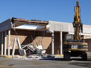The old Garfinckel's department  store at the Springfield Mall is demolished Nov. 26 to make way for the Springfield Town Center, scheduled to open in the fall of 2014.