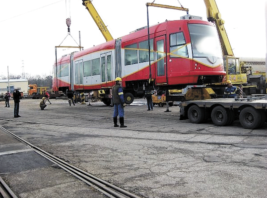 A D.C. streetcar, this one built by Czech firm Inekon. The District has ordered three cars from United Streetcar, a subsidiary of Oregon Iron Works Inc.