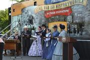 A VIP reception was held Aug. 23 at the Visitor Center at the Historic  Manassas Train Depot to mark the opening of the HistoryMobile Exhibit  and the 2012 Manassas Sesquicentennial Commemoration. Shown here is singing group Manassas Chanticleer Singers.