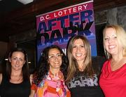 The D.C. Lottery and HOT 99.5 joined forces to promote the new D.C. Lottery Monopoly Scratcher with two nights of contests and chances to win $500 and $2,500 prizes each night. The D.C. Lottery After Dark events were held at Penn Social and Penn Quarter Sports Tavern and in Dupont Circle at Public Bar and Eden. From left, D.C. Lottery support team Lisa Byrne of DCEventJunkie.com, Lauren Brownstein of Pitch Consulting, Tara Chantal Silver of SilverStrategy and Jodie Warren of MDB Communications.