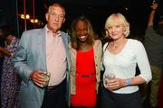 W Washington D.C.'s P.O.V. Rooftop Lounge played host July 29 to the  Citi Open Players Party, the kick-off for the 2012 Citi Open tournament.  Mixing and mingling with tennis stars and tournaments VIPS were, from left, legendary tennis player Donald Dell, player Sloane Stephens and Carol Dell.