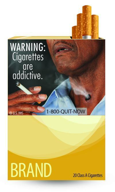 A report say the new cigarette warning labels are expected to cause a drop of less than 1 percent in U.S. tobacco sales by 2013.