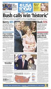 Nov. 4, 2004: Bush wins the election with 51 percent of the votes.
