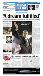 Nov. 6, 2008: The day after Obama is elected.
