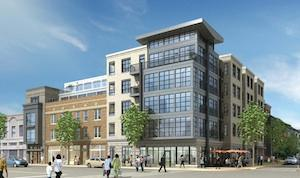 Douglas Development Corp. and CAS Riegler Cos. plan to break ground by the end of the year on a 70-unit residential building at Ninth and N streets NW.