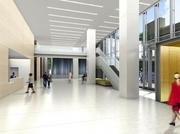 A rendering of the 1775 Tysons Blvd. lobby