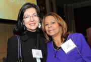 Matrix Group's Joanna Pineda, left, an honoree from the very first Women Who Means Business awards in 2004, with colleague Judith Stearns.