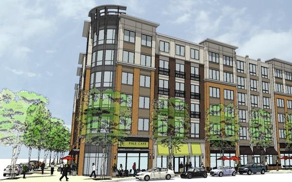 The Penrose Group has raised $92 million in financing to build a  257-unit apartment building at Columbia Pike and Glebe Road in  Arlington.