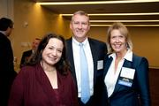 Attendees included, from left, Lisa Mitnick of Accenture, Dave Golden of Clark Construction and Joan Lillich of CGI.
