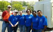 Volunteers from Crowne Plaza and Holiday Inn National Airports lend a hand at Arlingtonians for a Clean Environment.