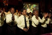 """Life Pieces To Masterpieces Apprentices perform for the crowd, chanting, """"Watch us shine!"""""""