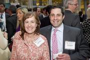 The Washington Business Journal recognized the deal-makers of real estate during 2011 on April 26 at its annual Best Real Estate Deals dinner, held in the Ronald Reagan Building. Celebrating square footage were, Keli Colby of Boston Properties and Chris Cardinale of Clark Enterprises.