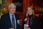 David Wysong of Wells Fargo Insurance Services and Janis McCarriher of Kalmia Construction.