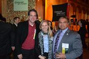 From left, Brent Gendleman of 5AM Solutions, Allyson Weaver Bunker of Net New Growth and Moe Jafari of HumanTouch LLC.